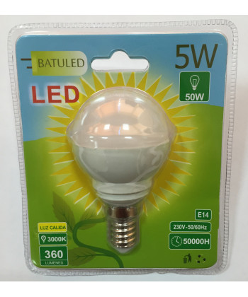 LED BULB G45 5W, E14, LIGHT, WARM