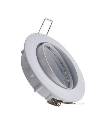 Aro Basculante color Blanco para dicroica GU-10 o MR-16