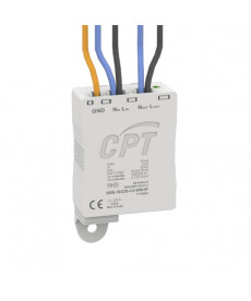 PROTECTOR OF LED LUMINAIRES AGAINST TRANSIENT OVERVOLTAGES CONNECTION WITH CABLES